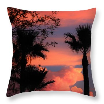 Glowing Sky Throw Pillow by Mistys DesertSerenity