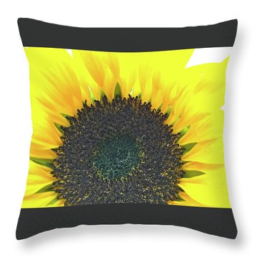 Glowing Sunflower Throw Pillow