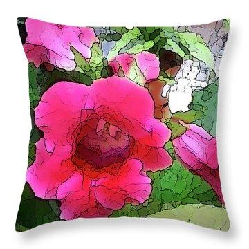 Gloxinia Throw Pillow
