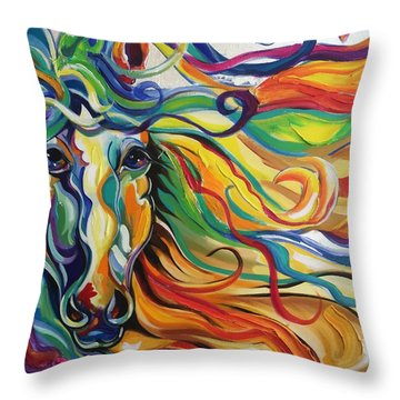 Glyde  Throw Pillow by Heather Roddy