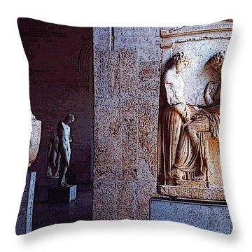 Throw Pillow featuring the photograph Glyptotek Museum 1 by Kate Word