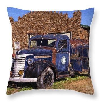 Gmc Tank Truck Throw Pillow