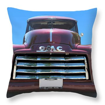 Gmc Truck Throw Pillow