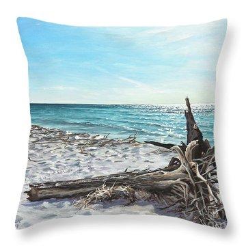 Gnarled Drift Wood Throw Pillow