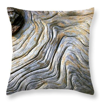 Gnarled Driftwood Throw Pillow