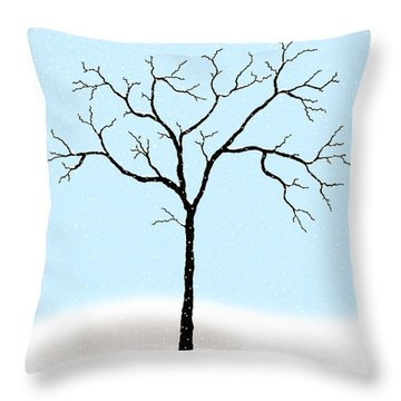 Gnarled In Winter Throw Pillow