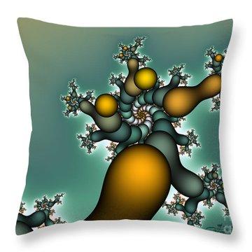 Gnarly Tree Throw Pillow by Jutta Maria Pusl