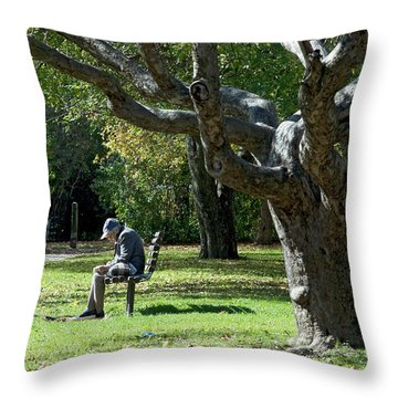 Gnarly Tree Solitude Throw Pillow