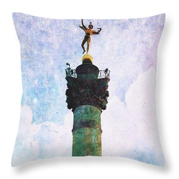 Genie De La Liberte Throw Pillow by Aurella FollowMyFrench