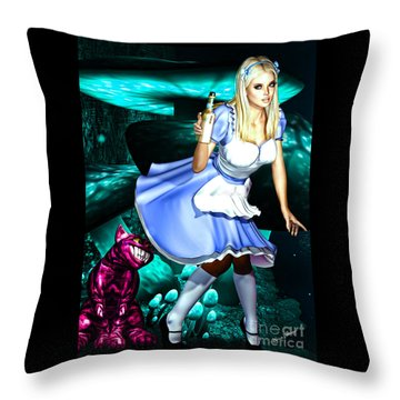 Go Ask Alice Throw Pillow