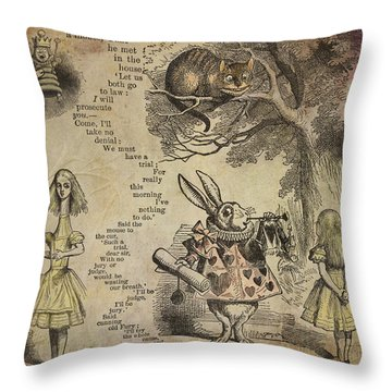 Go Ask Alice Throw Pillow by Diana Boyd