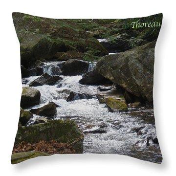 Go Confidently Throw Pillow by Deborah Dendler
