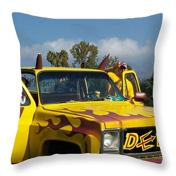 Go Devils Throw Pillow by Pamela Walrath