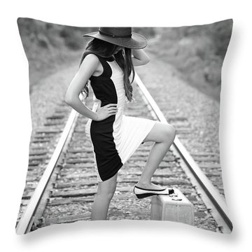 Go Far Throw Pillow