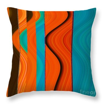 Go Figure Throw Pillow by Ann Johndro-Collins