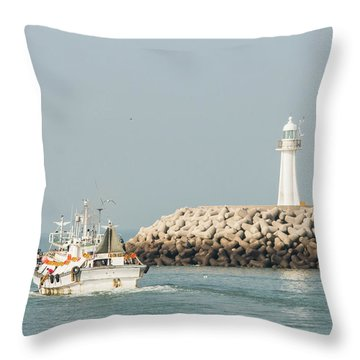 Go Fishing Throw Pillow