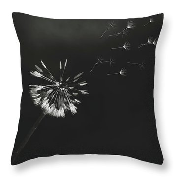 Go Forth Bw Throw Pillow by Heather Applegate