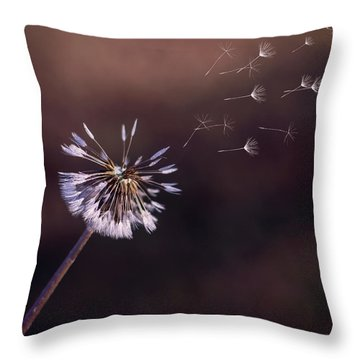 Go Forth Fall Throw Pillow by Heather Applegate