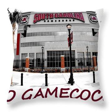 Go Gamecocks Throw Pillow