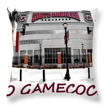 Go Gamecocks Throw Pillow