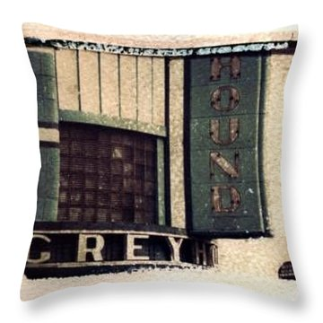 Go Greyhound And Leave The Driving To Us Throw Pillow by Jane Linders