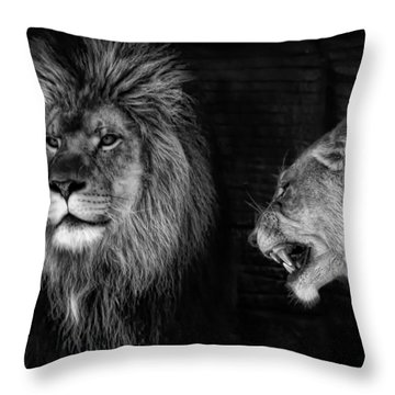 Throw Pillow featuring the photograph Go Hunting - I'm Hungry by Ken Barrett