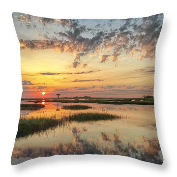 Throw Pillow featuring the photograph Sunrise Sunset Photo Art - Go In Grace by Jo Ann Tomaselli