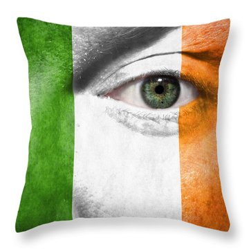 Throw Pillow featuring the photograph Go Ireland by Semmick Photo