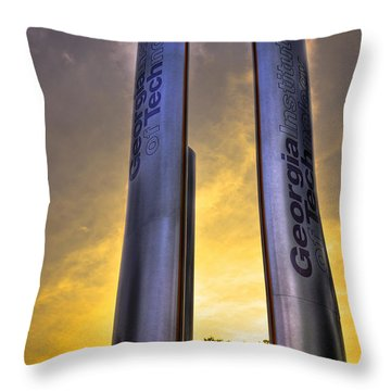 Go Tech Georgia Tech Sunset Art Throw Pillow