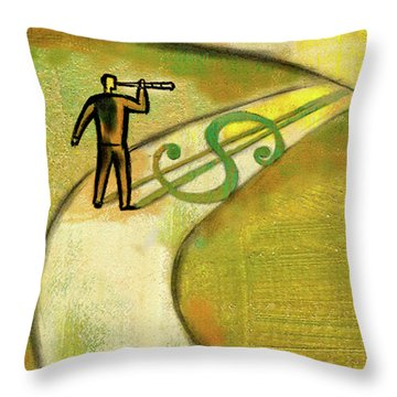 Throw Pillow featuring the painting Goal by Leon Zernitsky