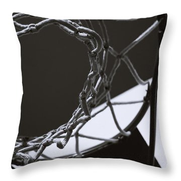 Throw Pillow featuring the photograph Goal by Steven Milner
