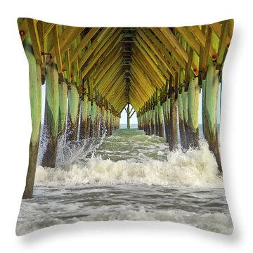 Goastal Golden Hour Throw Pillow