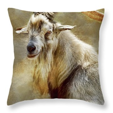 Goat Portrait Throw Pillow