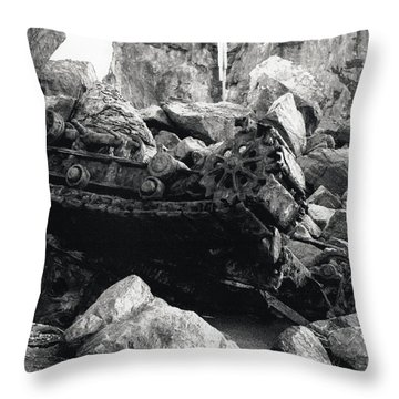 Goat Rock Tractor Jenner California Throw Pillow