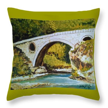 Goat's Bridge Throw Pillow