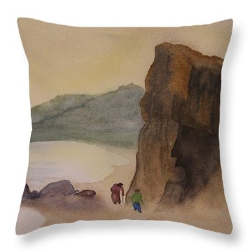 Goat's Head Beachcombers Throw Pillow