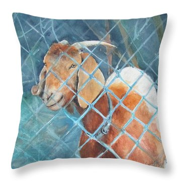 Goattie Throw Pillow