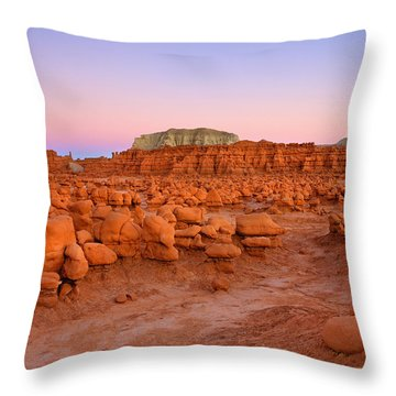 Goblin Glow Throw Pillow by Mike  Dawson