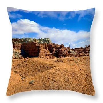 Goblin Valley Pano 3 Throw Pillow by Tomasz Dziubinski