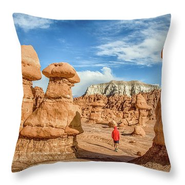 Goblin Valley State Park Throw Pillow by JR Photography