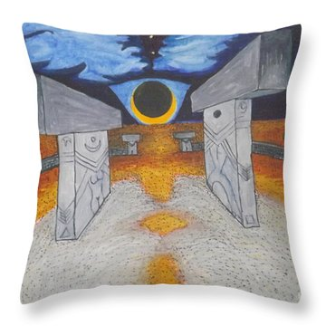 Goblitechi Vision Eclipse Throw Pillow