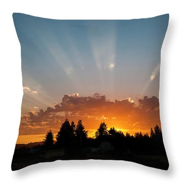 God Beams Throw Pillow