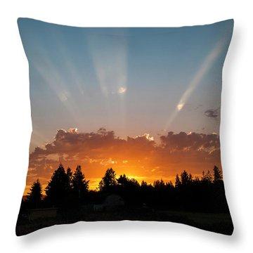 God Beams Throw Pillow