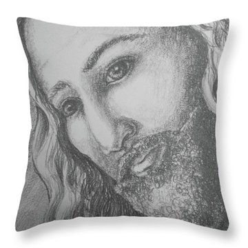 God Became Man Throw Pillow
