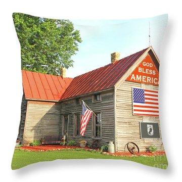 God Bless America 2018 Throw Pillow