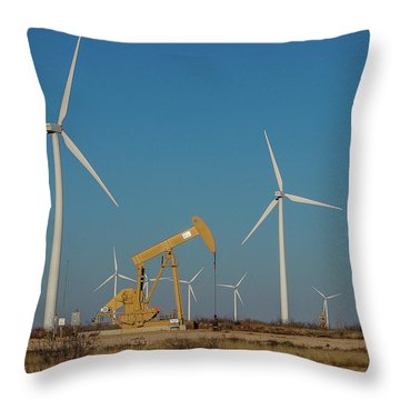 God Bless Texas Throw Pillow