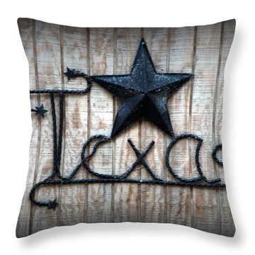 Throw Pillow featuring the photograph God Bless Texas by Kathy  White