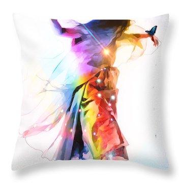 God Colors Throw Pillow