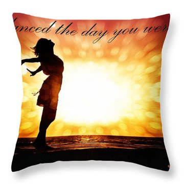 Throw Pillow featuring the photograph God Danced The Day You Were Born by Allen Beilschmidt