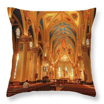 God Do You Hear Me Throw Pillow by Ken Smith